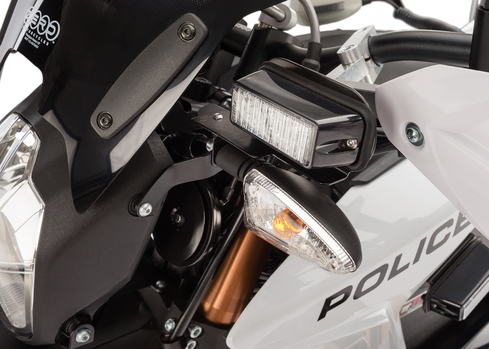 2013 Zero Police Electric Motorcycle: Front Lights