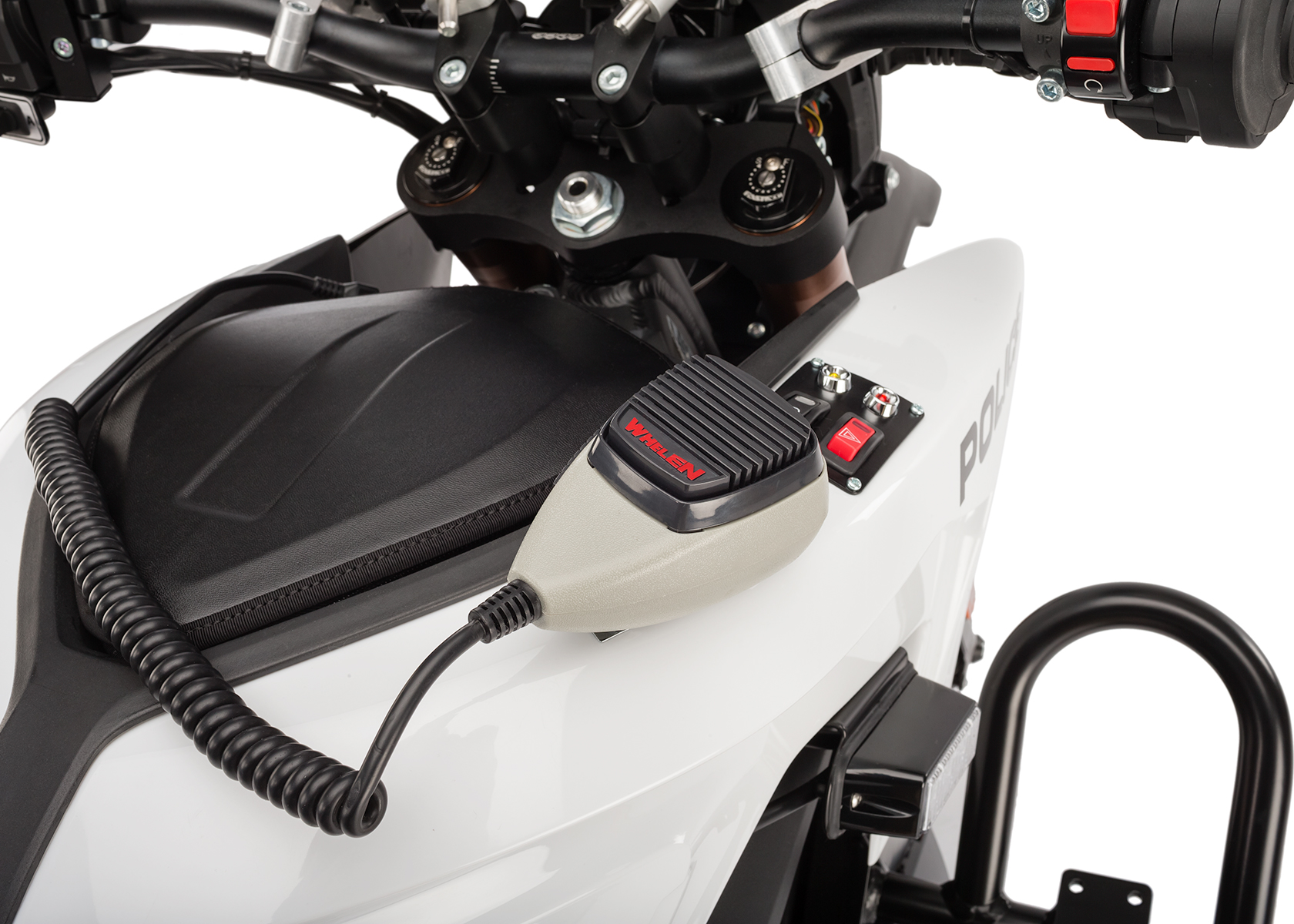 2013 Zero Police Electric Motorcycle: Microphone