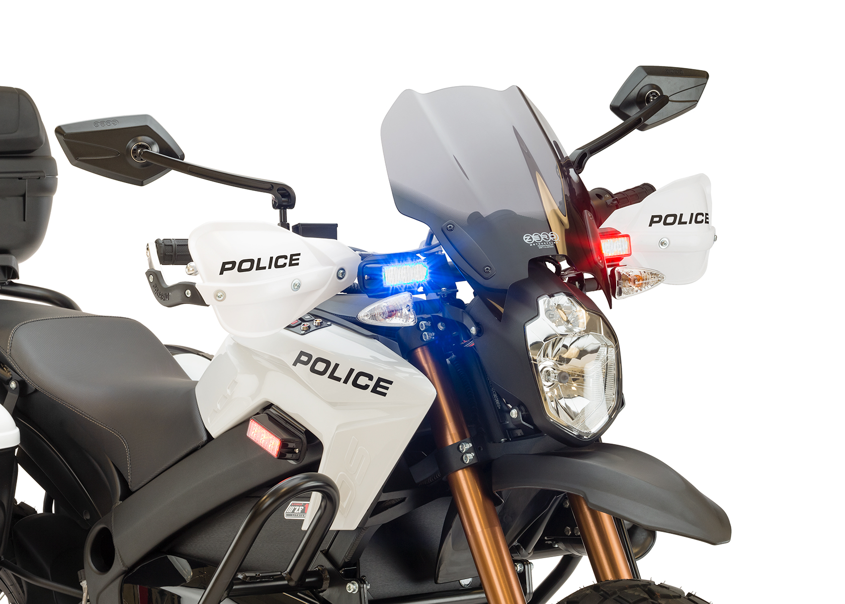 2013 Zero Police Electric Motorcycle: Right angle, Lights