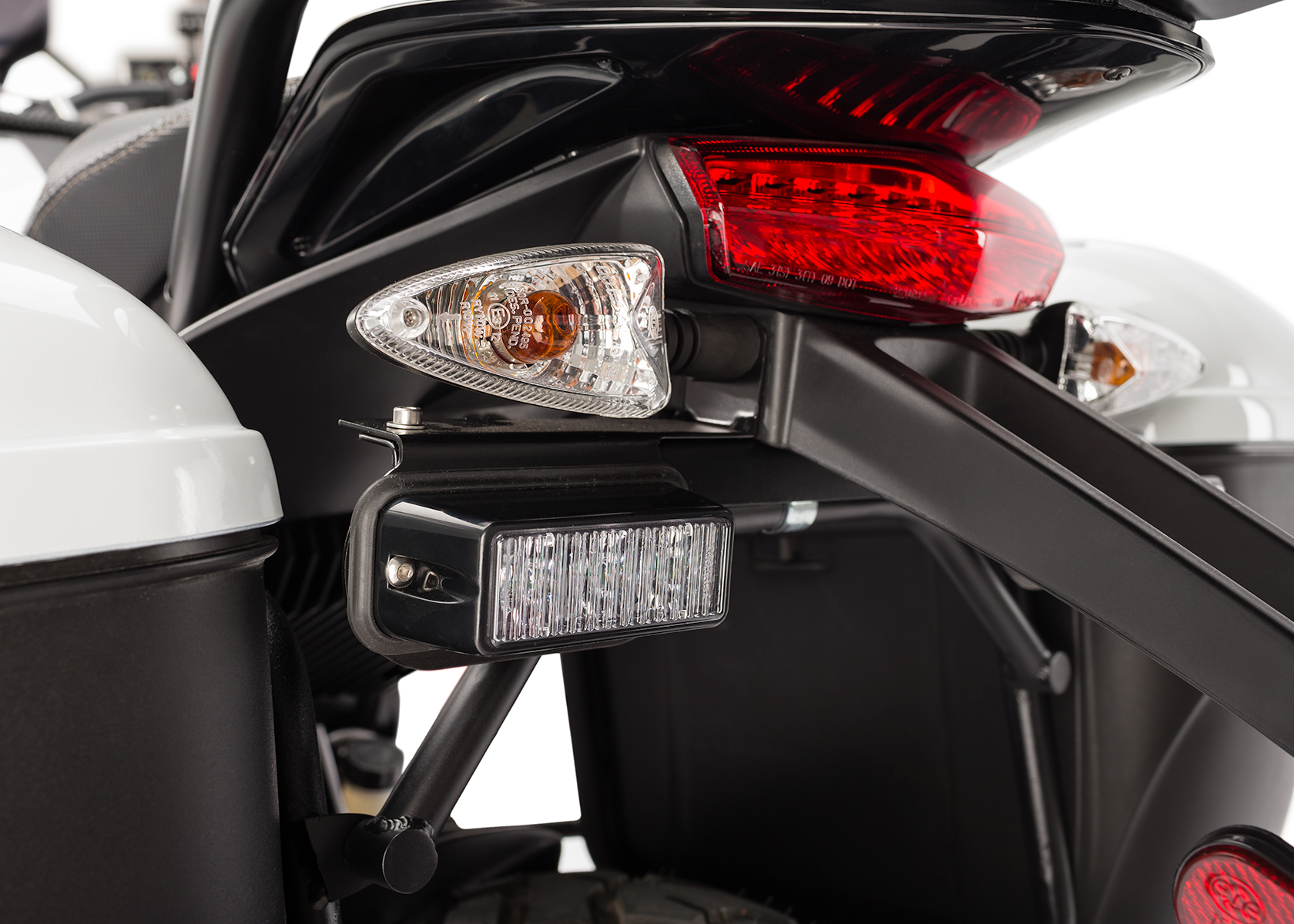 2013 Zero Police Electric Motorcycle: Rear lights