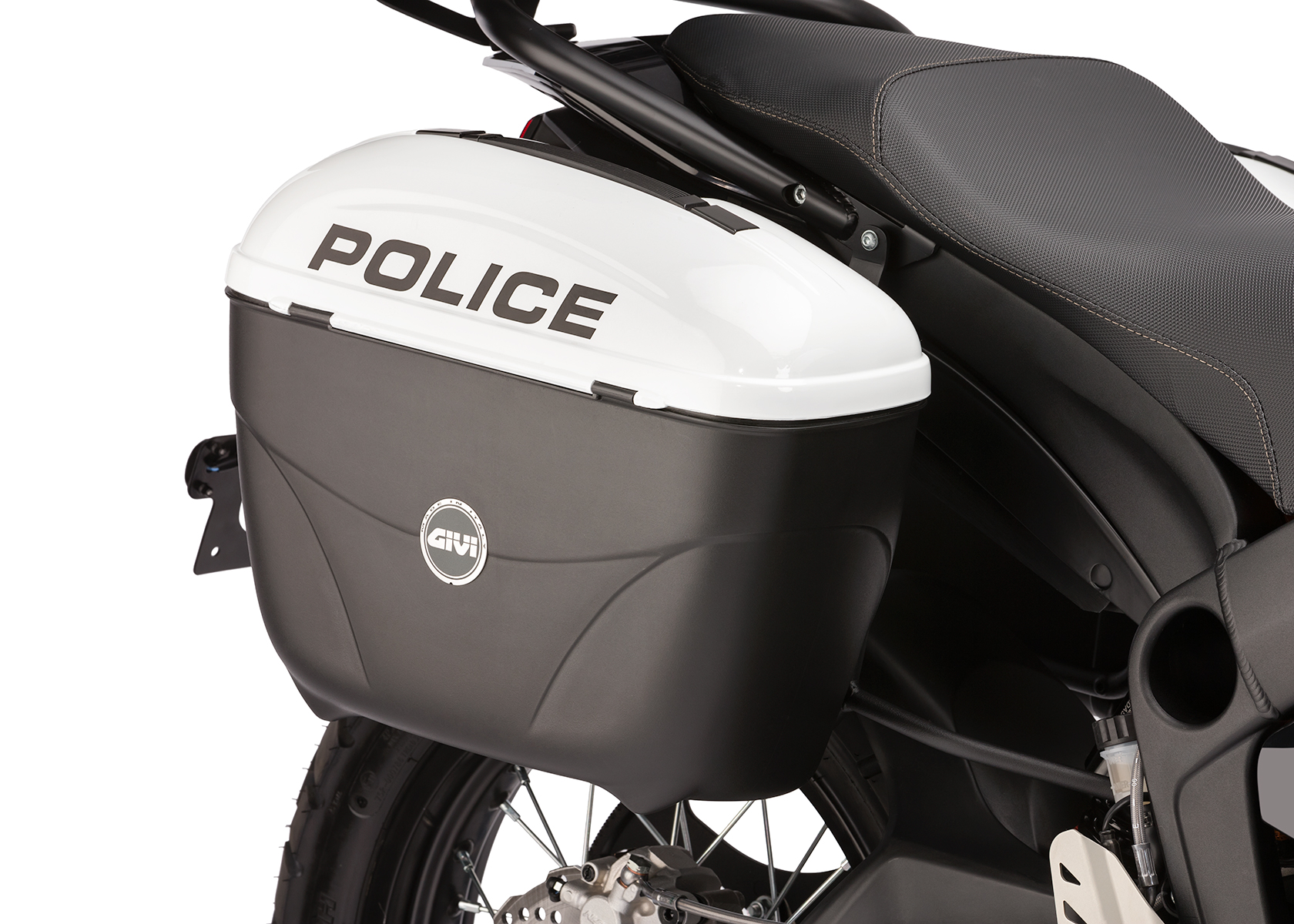 2013 Zero Police Electric Motorcycle: Saddle bag