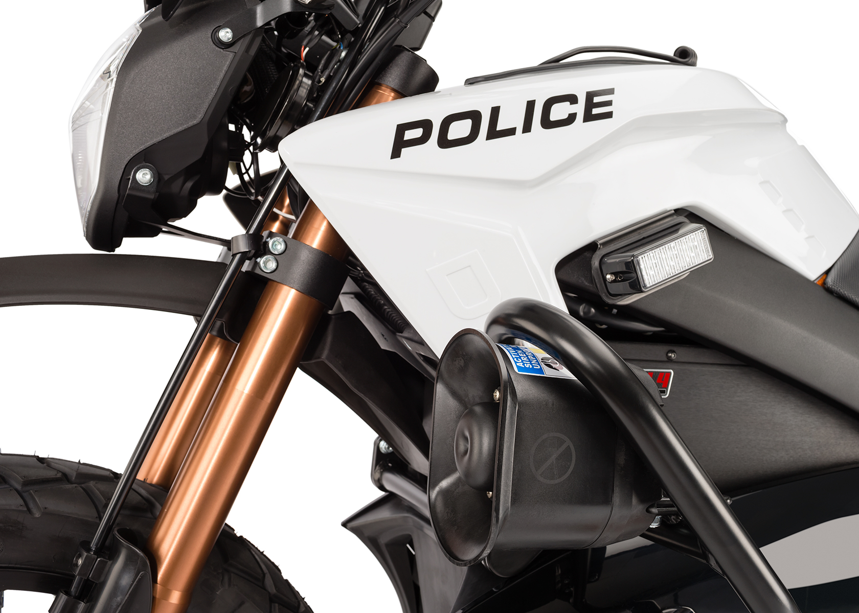2013 Zero Police Electric Motorcycle: Side light, Siren