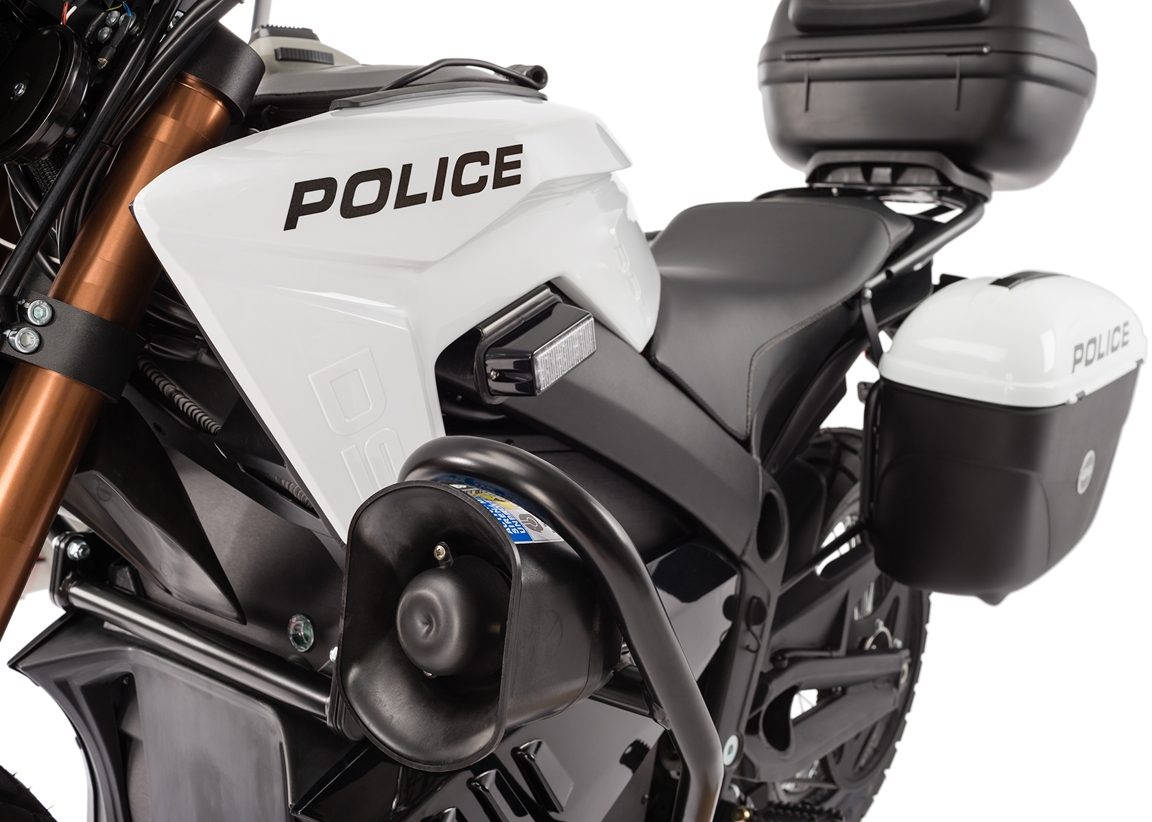 2013 Zero Police Electric Motorcycle: Siren