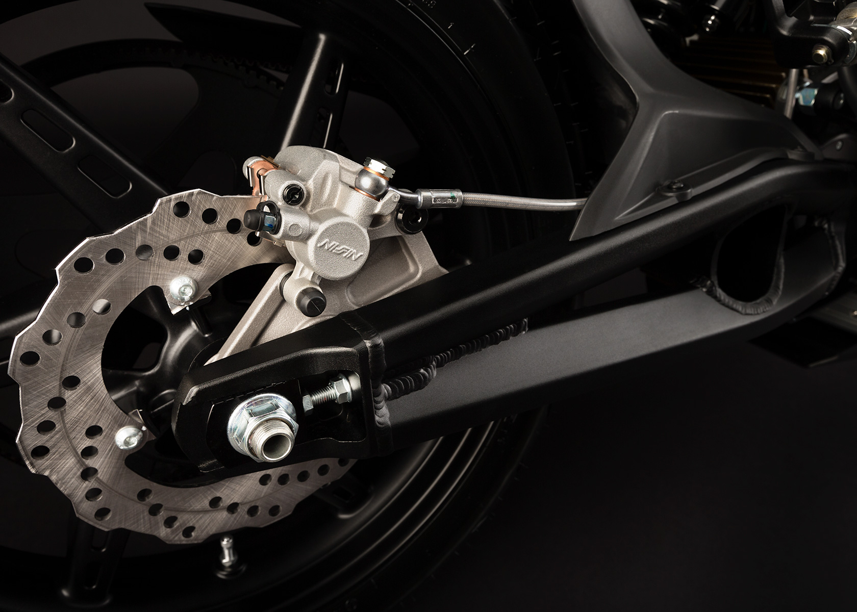 '.2013 Zero S Electric Motorcycle: Rear Brake.'