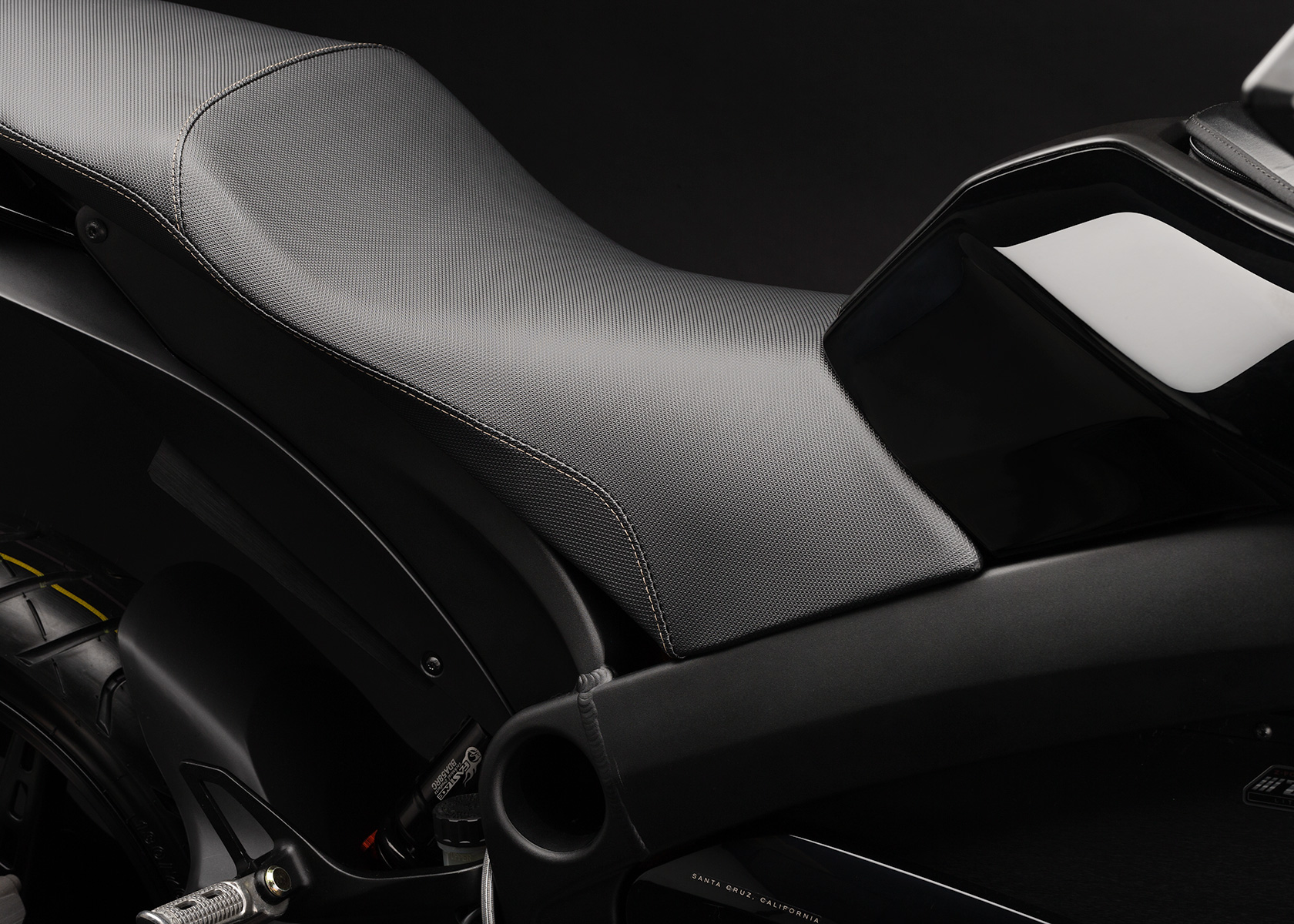 '.2013 Zero S Electric Motorcycle: Seat.'
