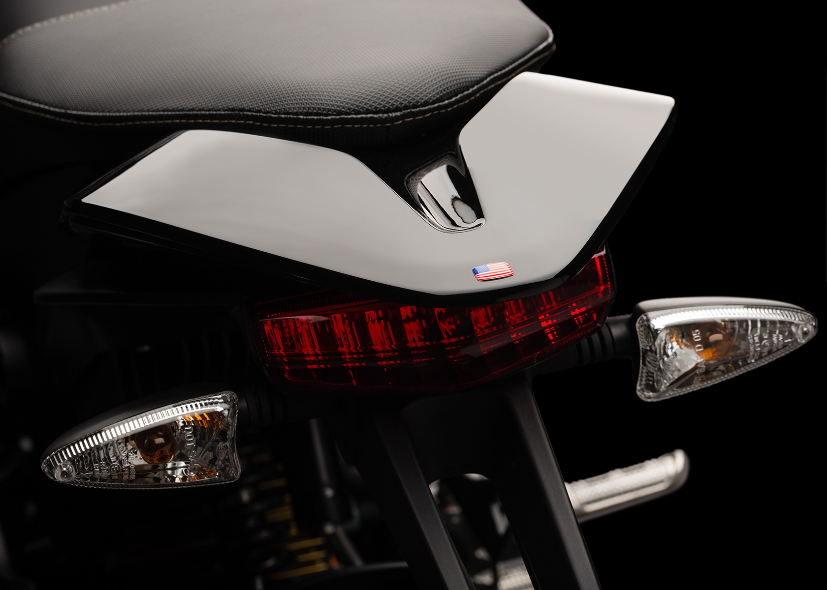'.2013 Zero S Electric Motorcycle: tail.'