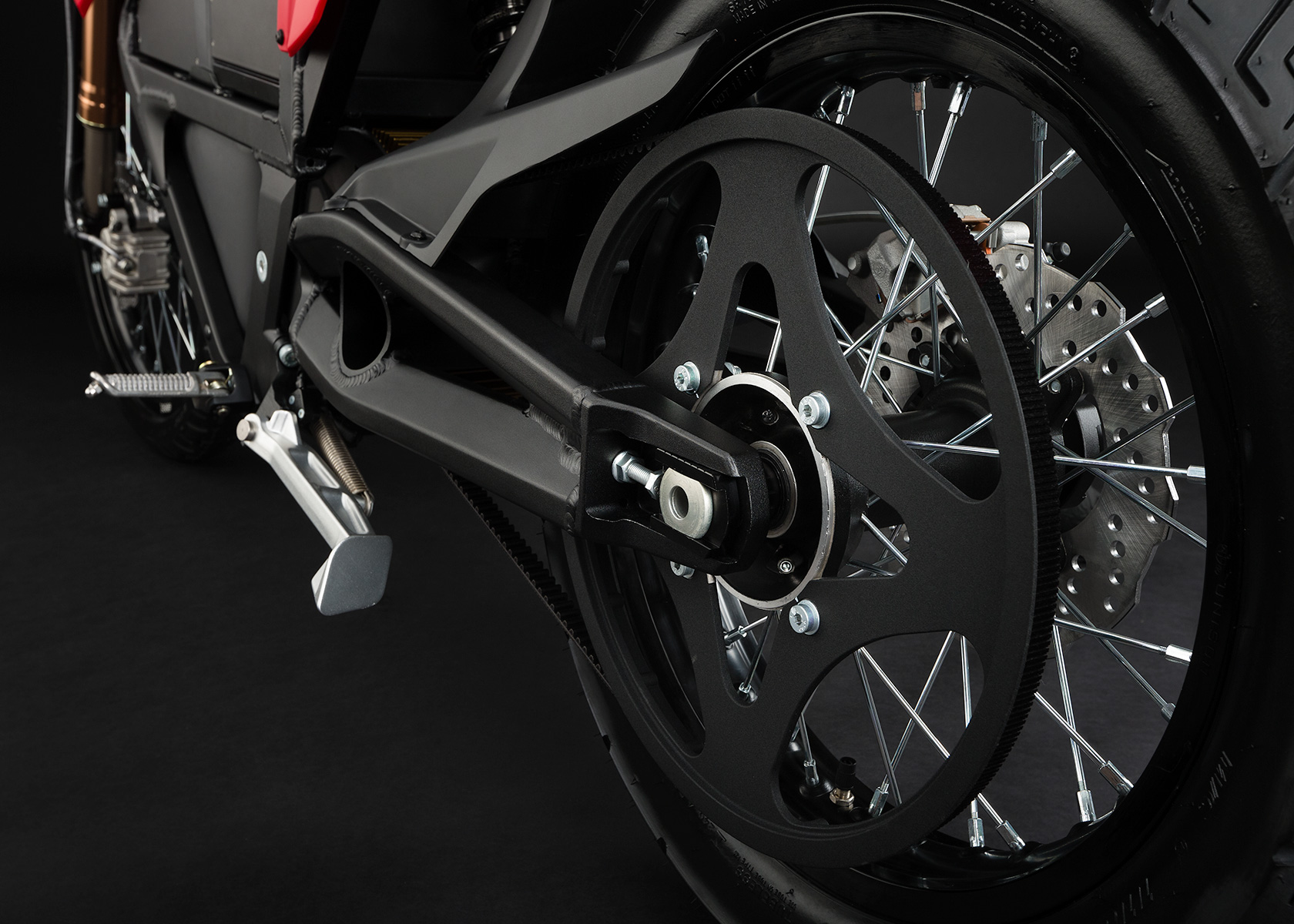 '.2013 Zero XU Electric Motorcycle: Belt Drive.'