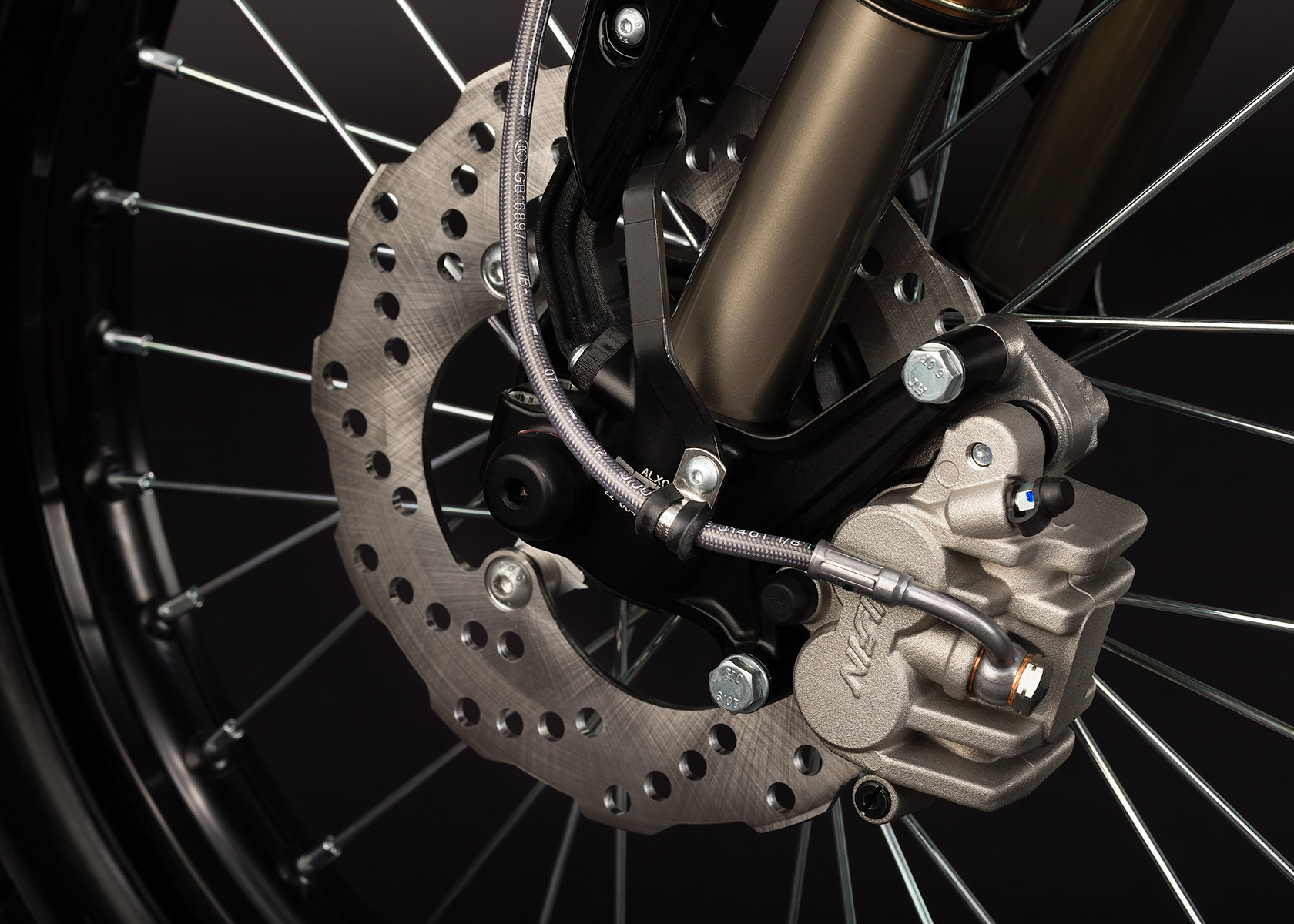 '.2013 Zero XU Electric Motorcycle: Front Brake.'