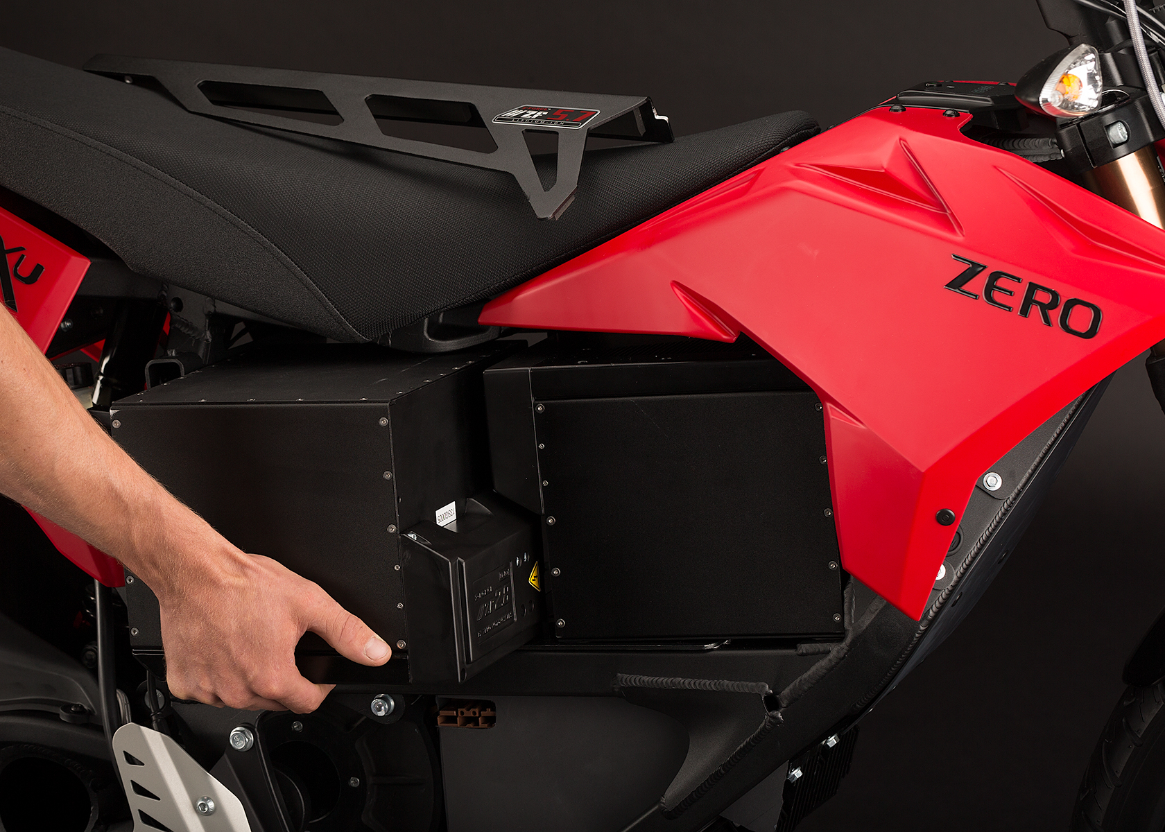 '.2013 Zero XU Electric Motorcycle: Modular Battery.'
