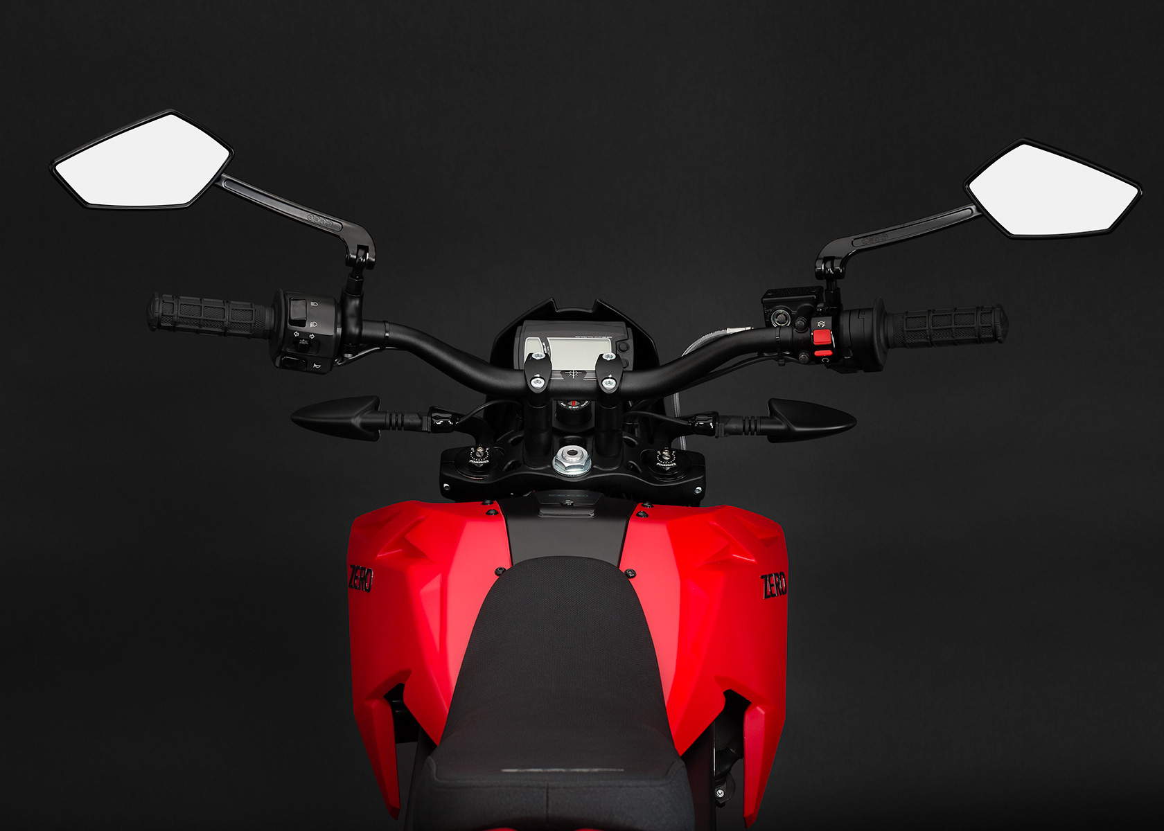 '.2013 Zero XU Electric Motorcycle: Rider View.'