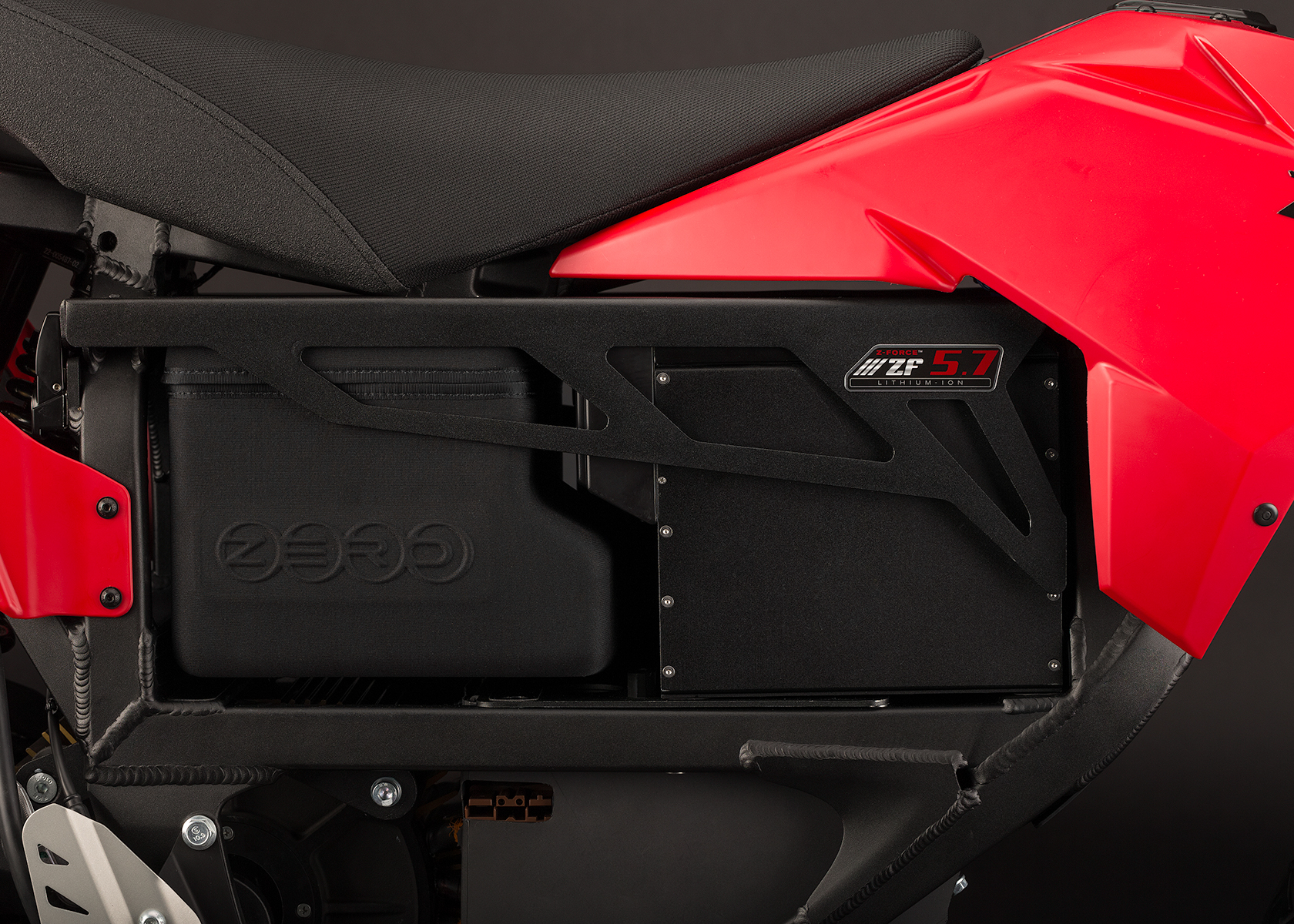 '.2013 Zero XU Electric Motorcycle: Storage.'