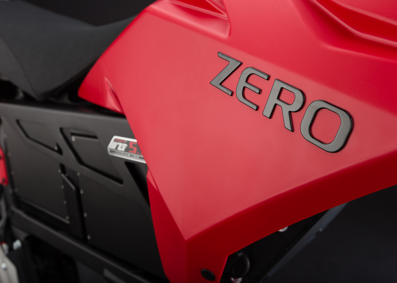 '.2013 Zero XU Electric Motorcycle: Tank.'