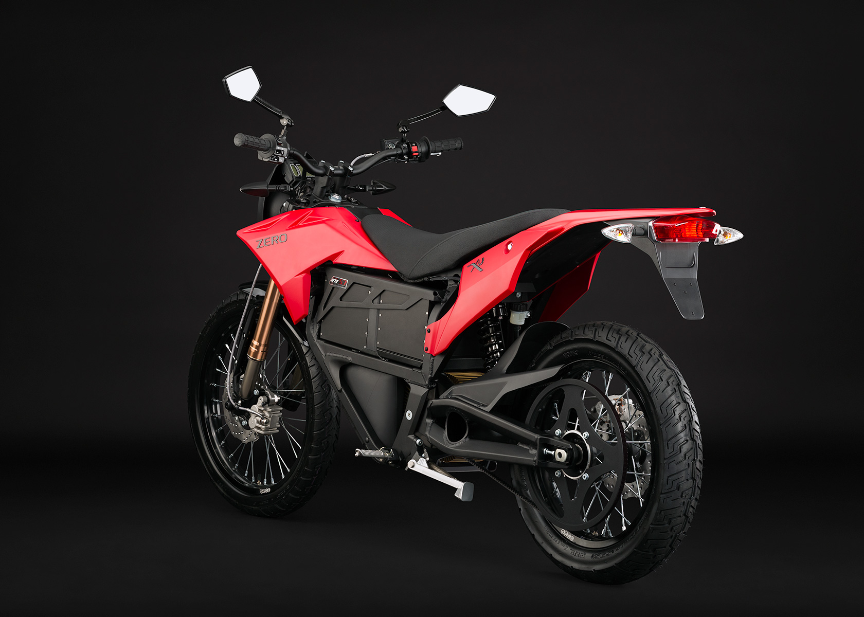 2013 Zero XU Electric Motorcycle: Angle Left