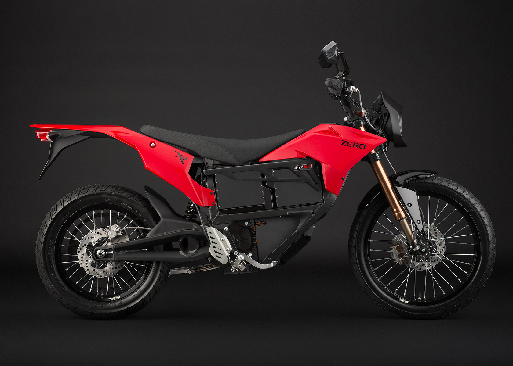 '.2013 Zero XU Electric Motorcycle: Profile Right.'