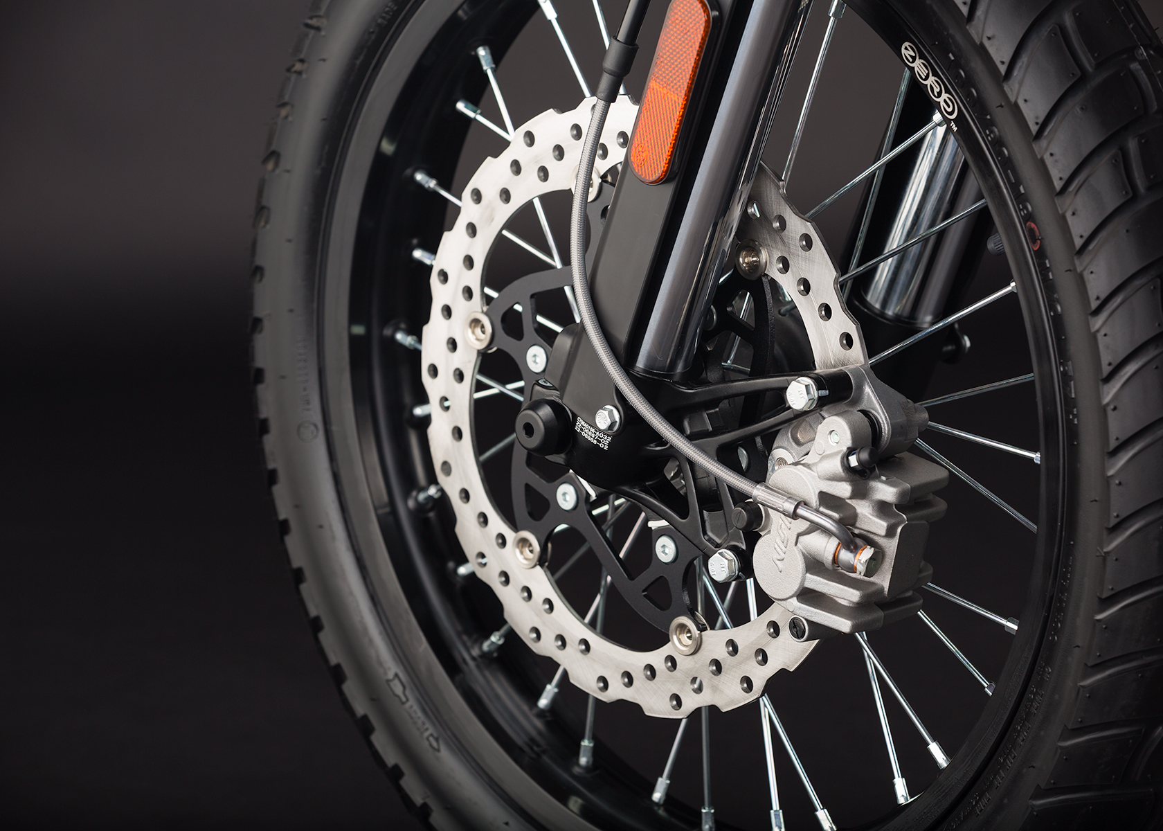 '.2014 Zero DS Electric Motorcycle: Front Brake.'