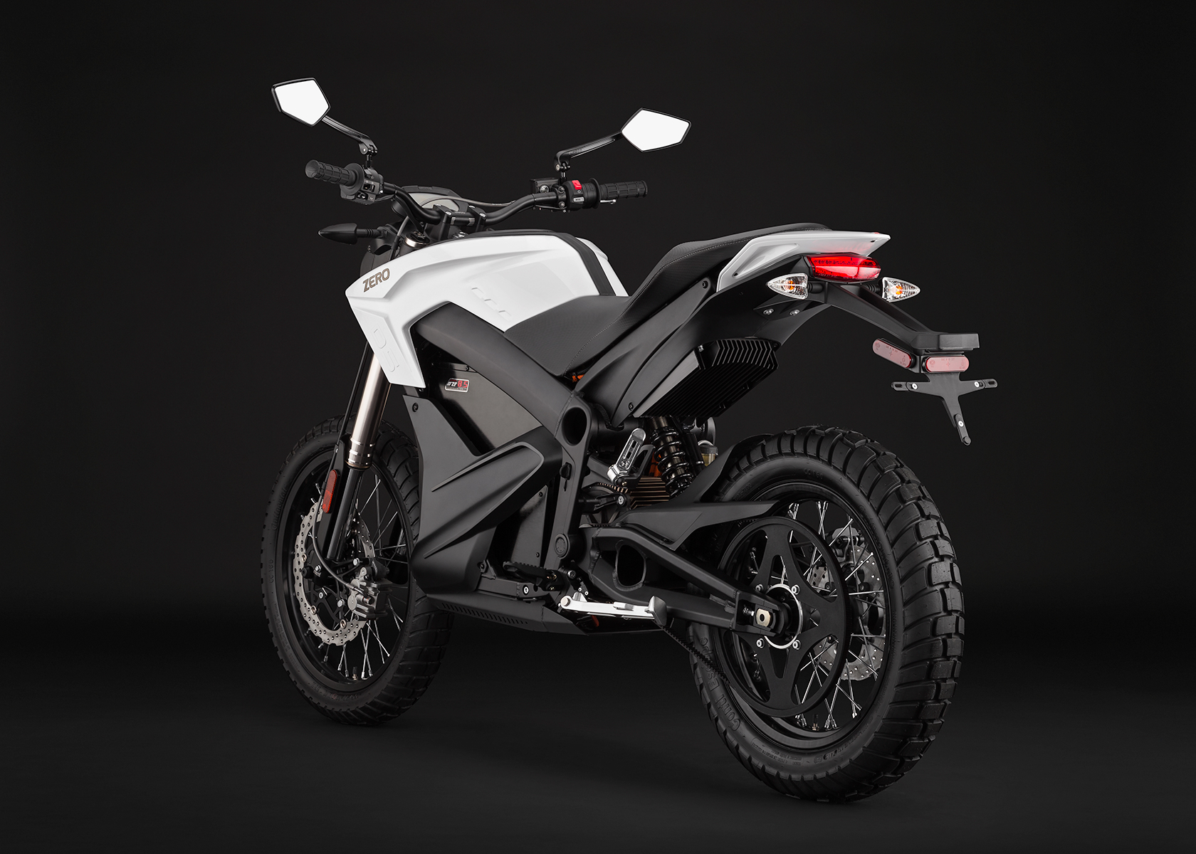 '.2014 Zero DS Electric Motorcycle: White Angle Left.'