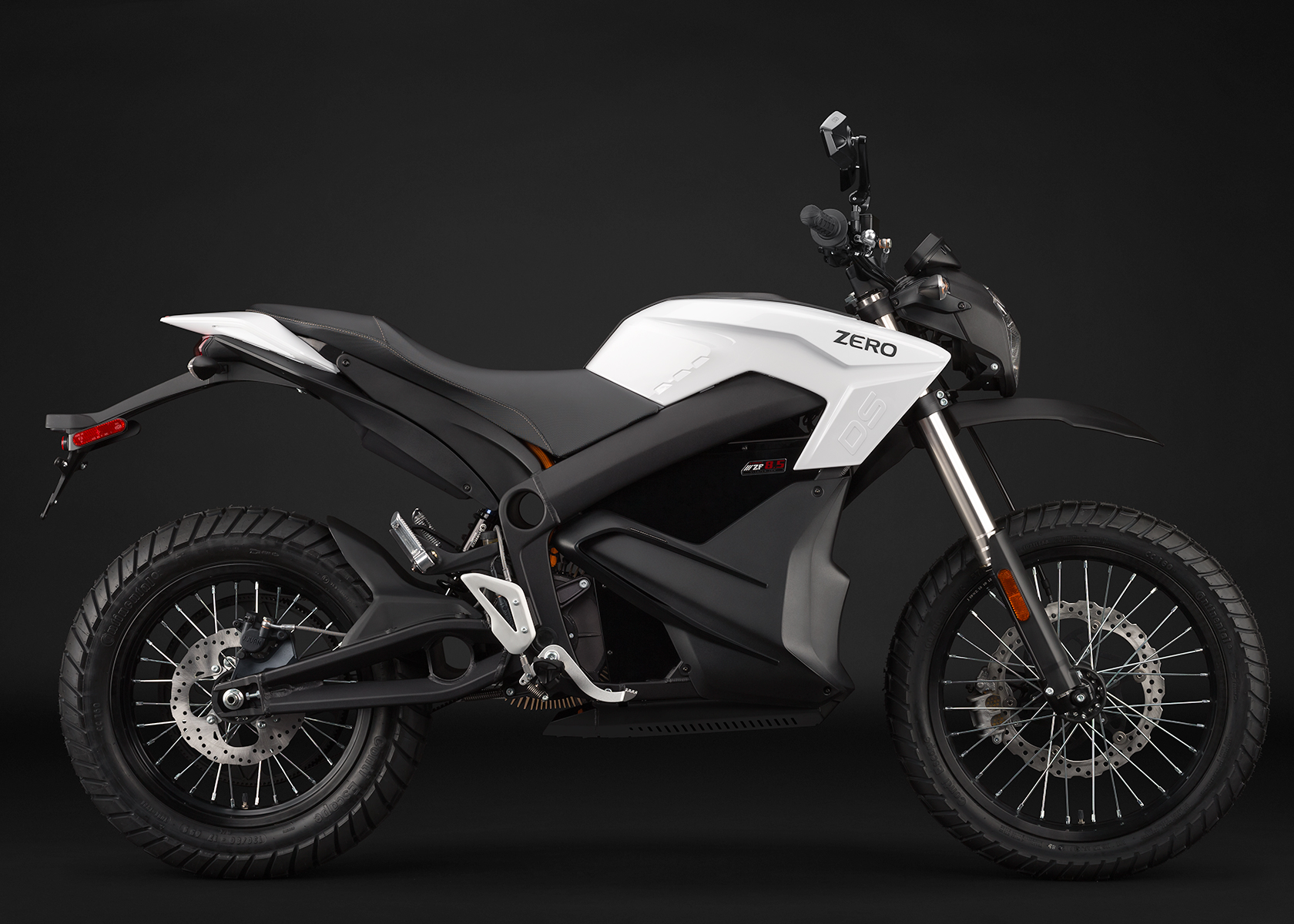 '.2014 Zero DS Electric Motorcycle: White Profile Right.'