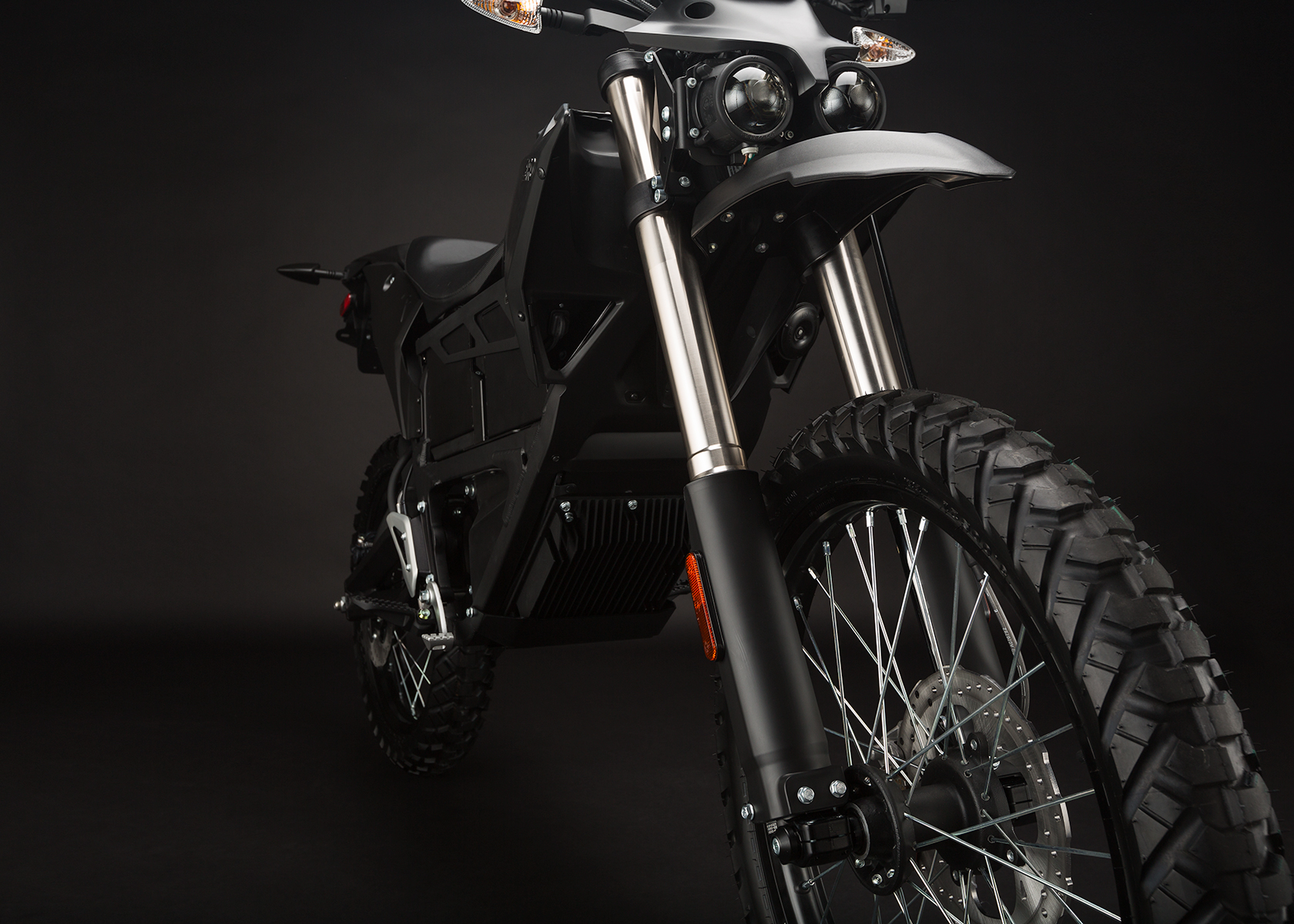 '.2014 Zero FX Electric Motorcycle: Front Fork.'
