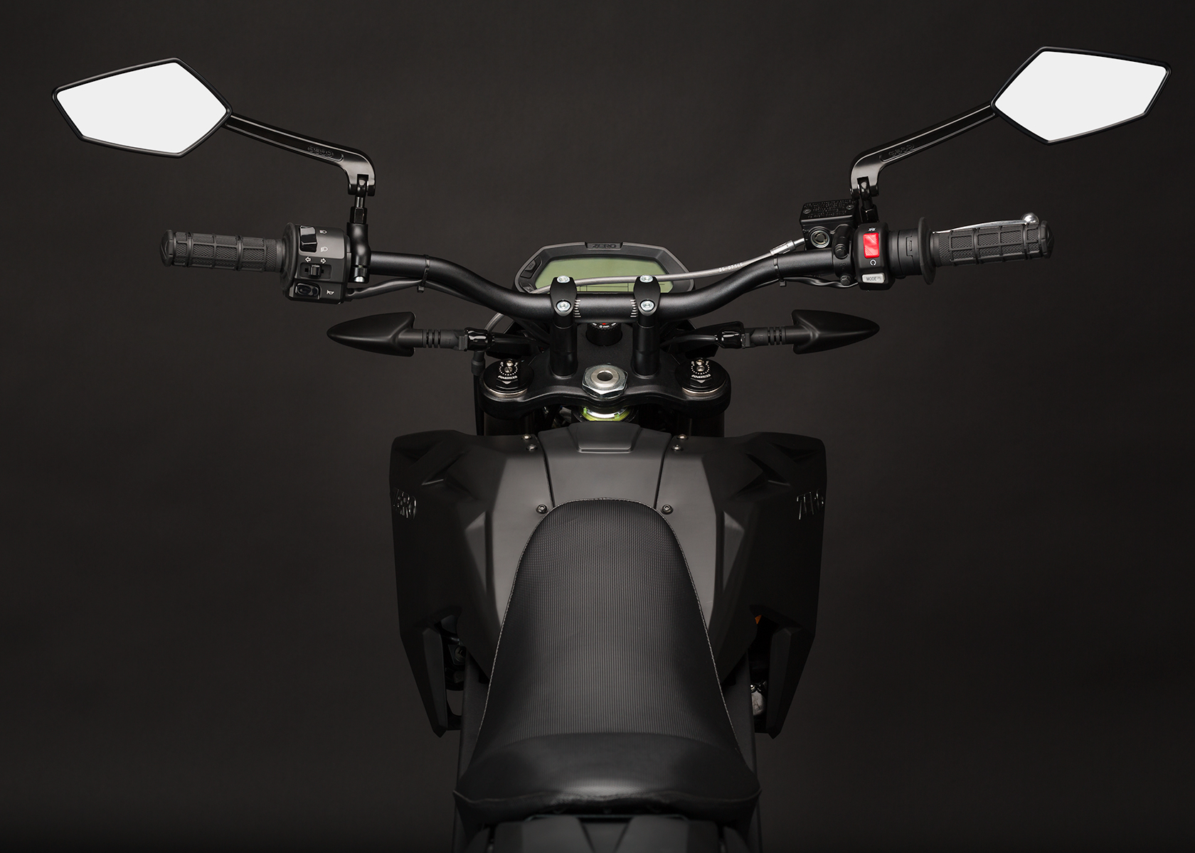'.2014 Zero FX Electric Motorcycle: Rider View.'