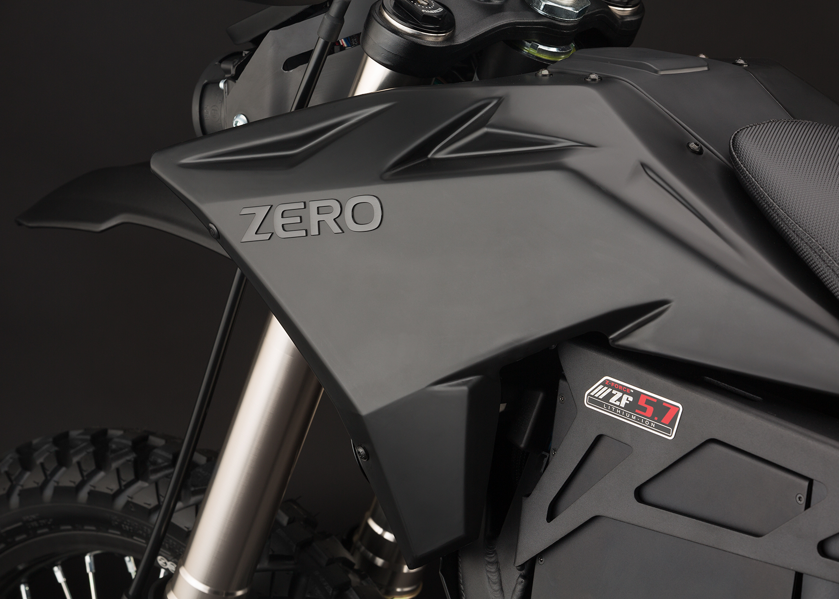 '.2014 Zero FX Electric Motorcycle: Tank.'
