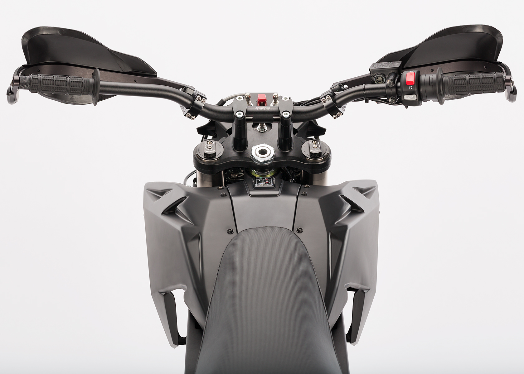 2014 Zero Police Electric Motorcycle: Rider View