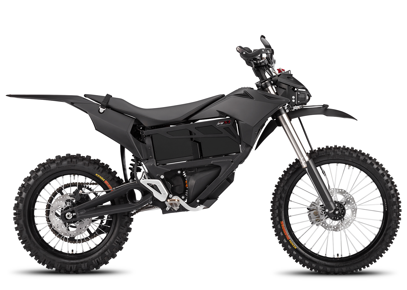 2014 Zero MMX Electric Motorcycle: Right profile, White Background