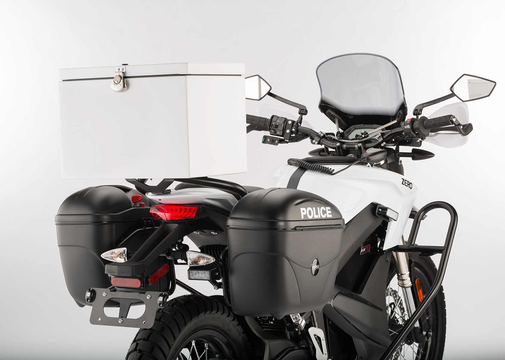 2014 Zero Police Electric Motorcycle: Courier Box