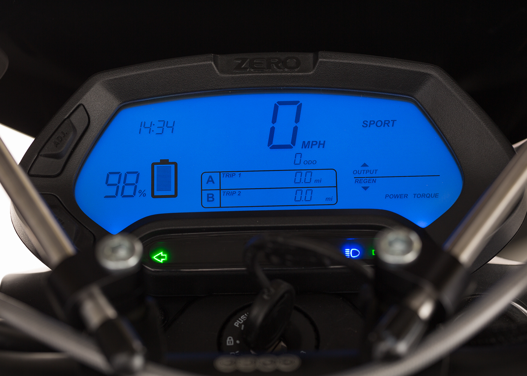2014 Zero Police Electric Motorcycle: Dash