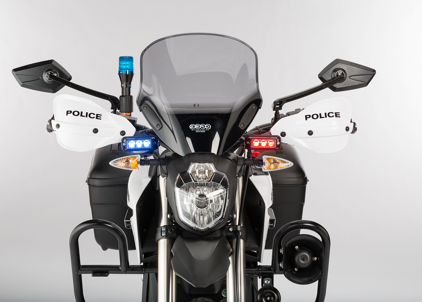 2014 Zero Police Electric Motorcycle: Front view