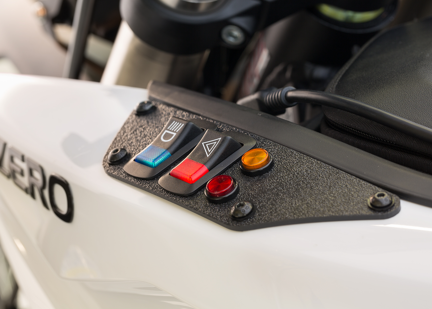 2014 Zero Police Electric Motorcycle: Hazard Switch