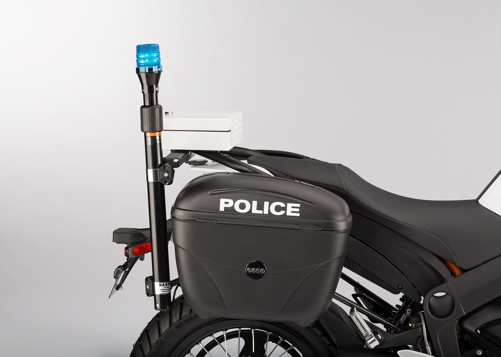 2014 Zero Police Electric Motorcycle: Light Pole