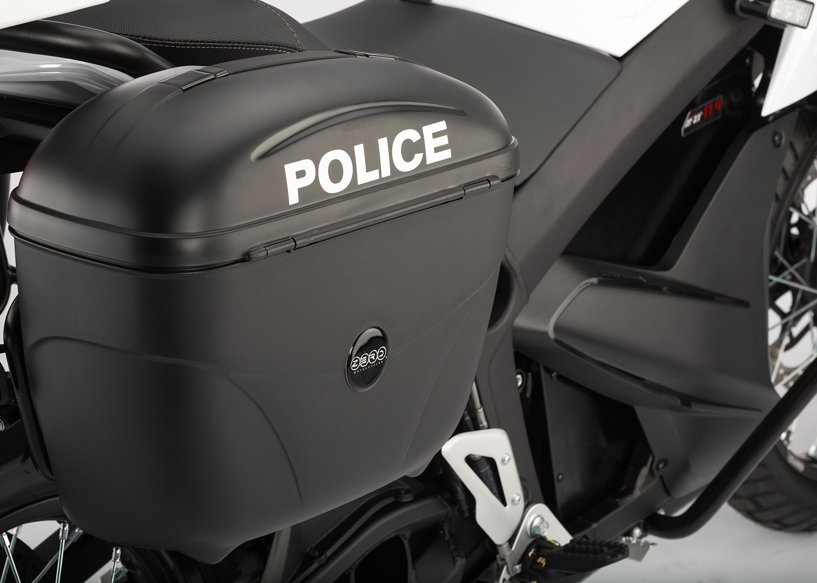 2014 Zero Police Electric Motorcycle: Side Bag