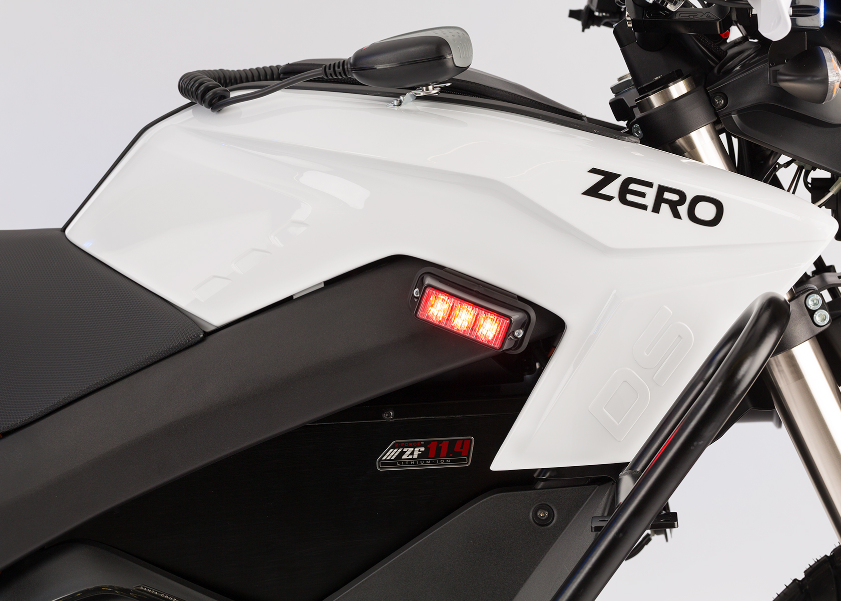 2014 Zero Police Electric Motorcycle: Side Light