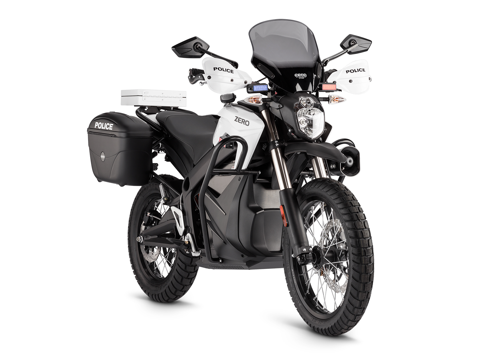 2014 Zero DSP Electric Motorcycle: Right angle, White Background