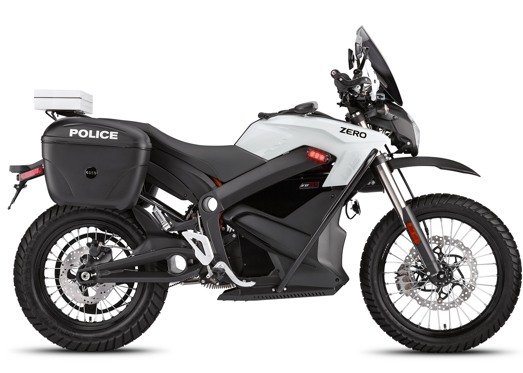 2014 Zero DSP Electric Motorcycle: Right profile, White Background