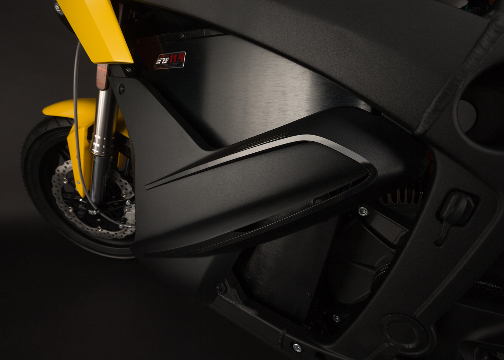 '.2014 Zero S Electric Motorcycle: Chin Fairing.'