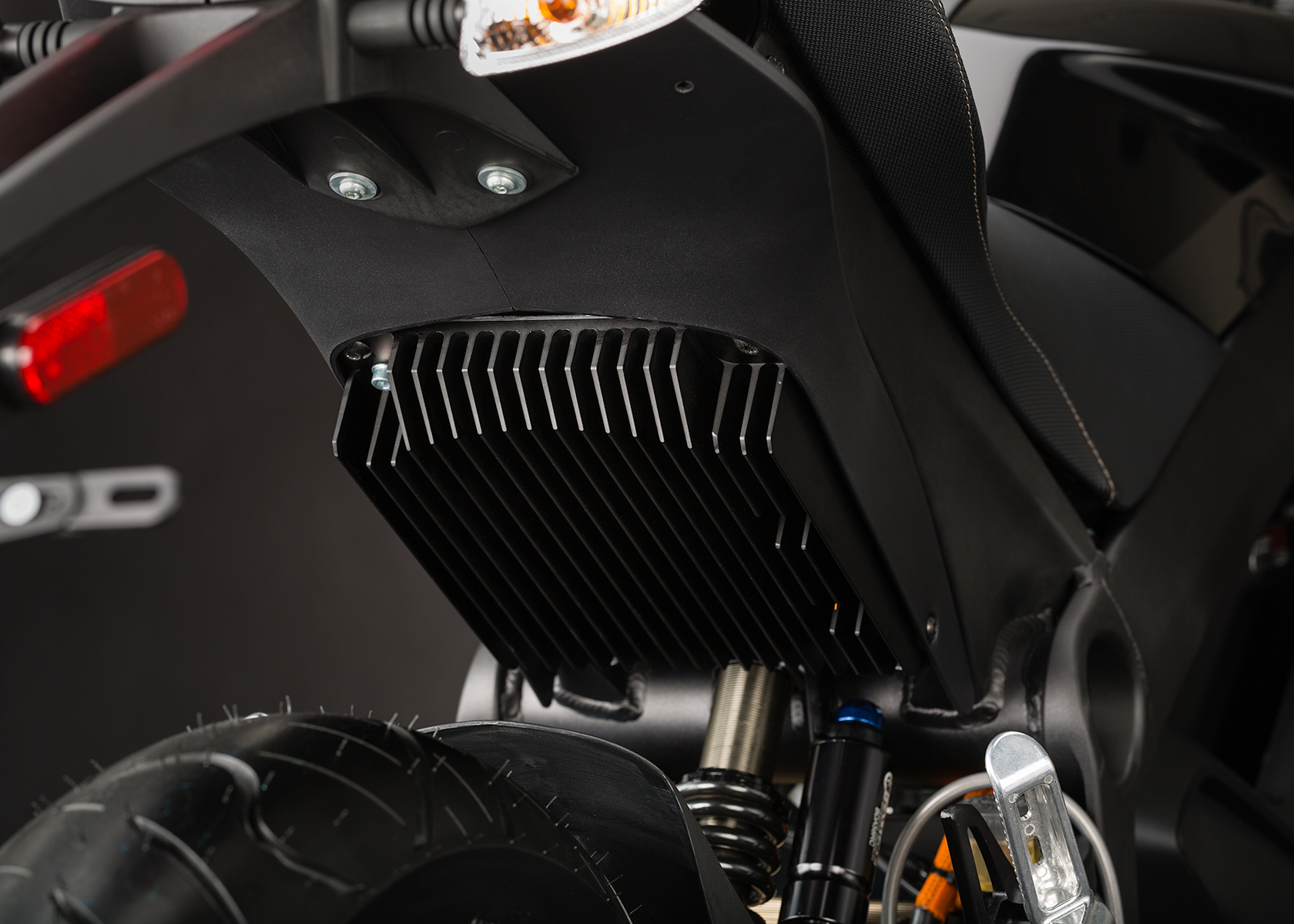 '.2014 Zero S Electric Motorcycle: Belt Controller.'