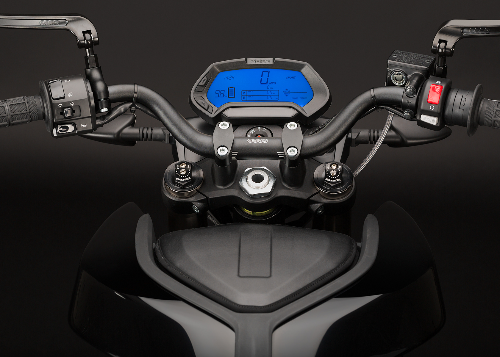 '.2014 Zero S Electric Motorcycle: Dash.'