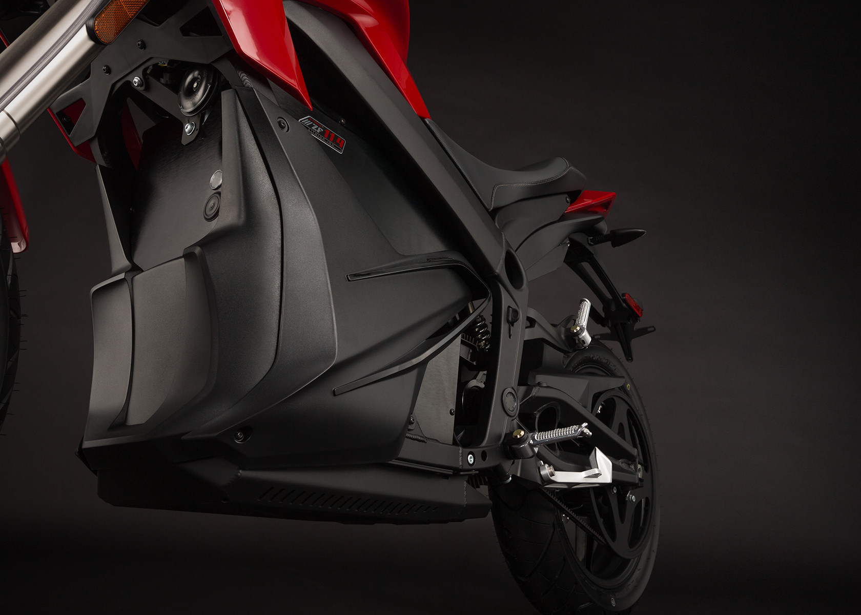 '.2014 Zero SR Electric Motorcycle: Chin Fairing.'