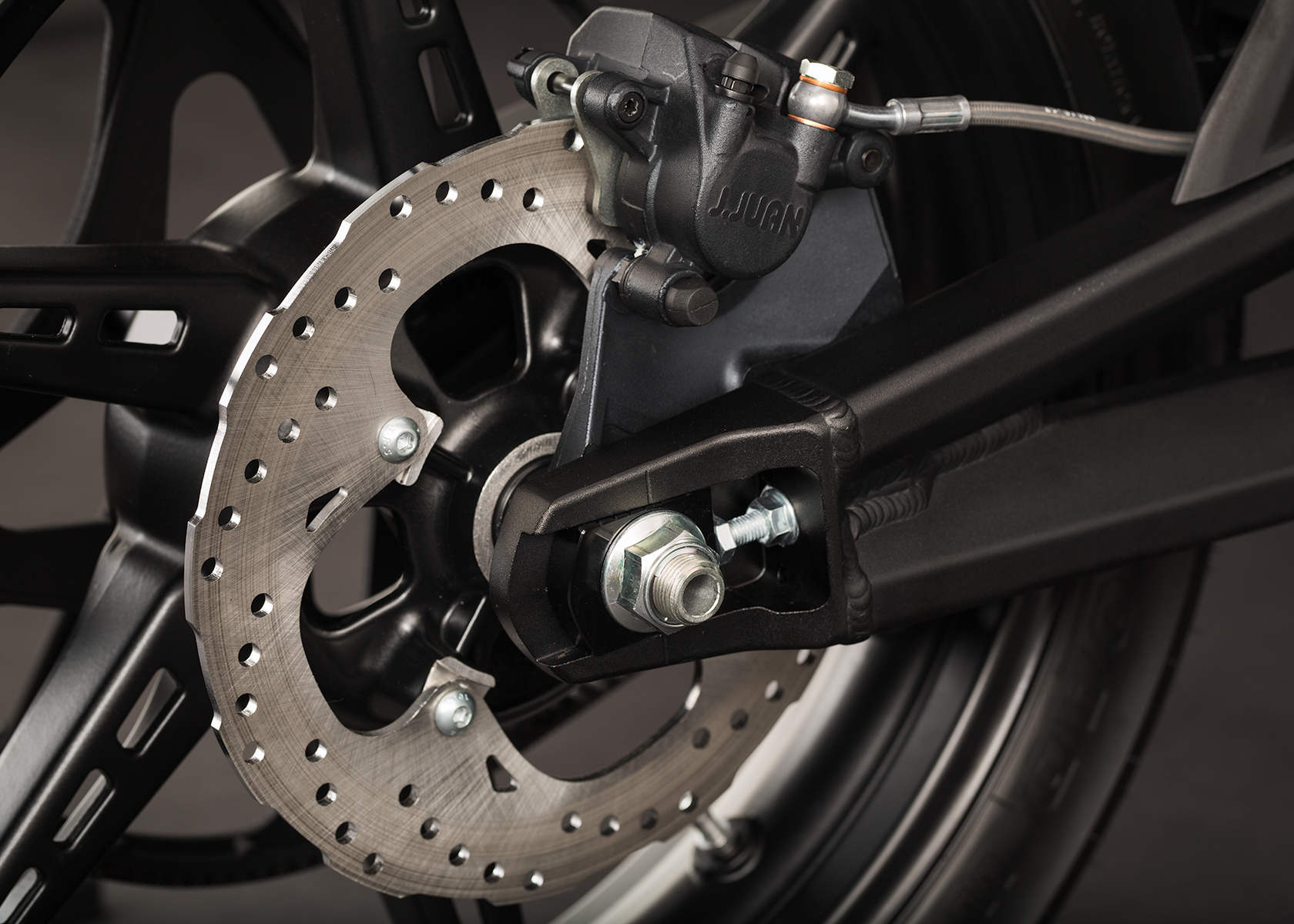 '.2014 Zero SR Electric Motorcycle: Rear Brake.'