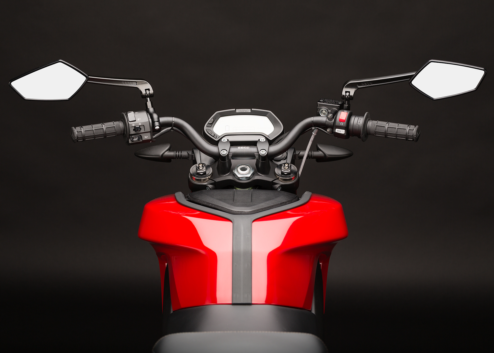 '.2014 Zero SR Electric Motorcycle: Rider View.'