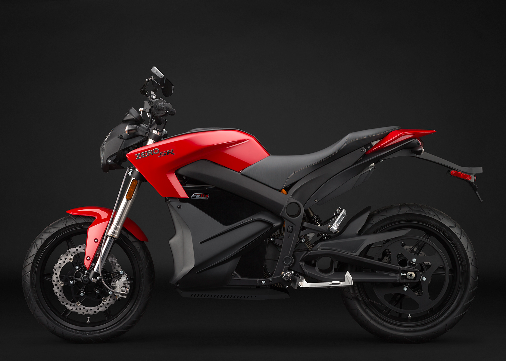 '.2014 Zero SR Electric Motorcycle: Profile Left.'
