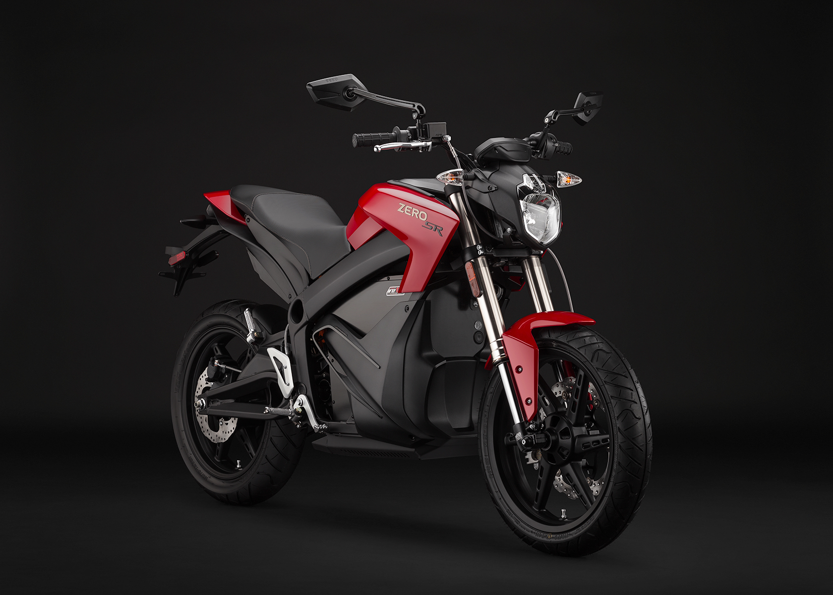 2014 Zero SR Electric Motorcycle: Angle Right