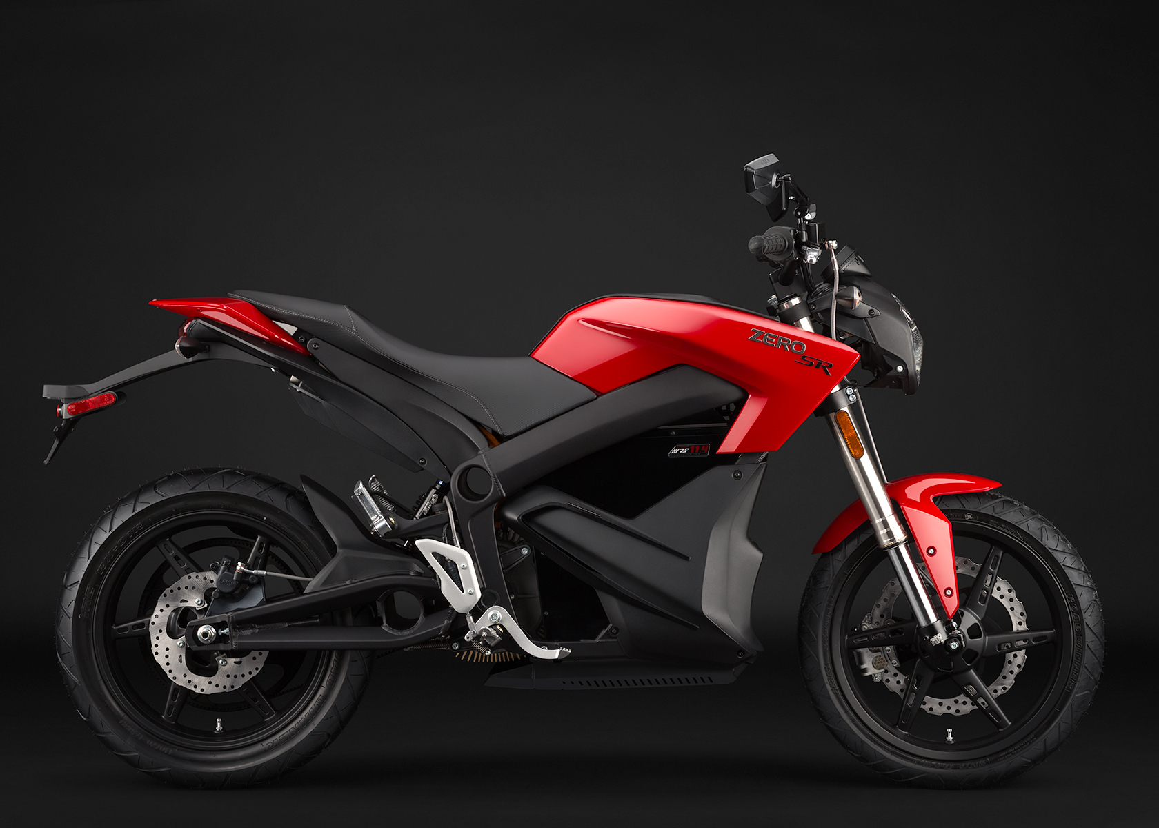 '.2014 Zero SR Electric Motorcycle: Profile Right.'