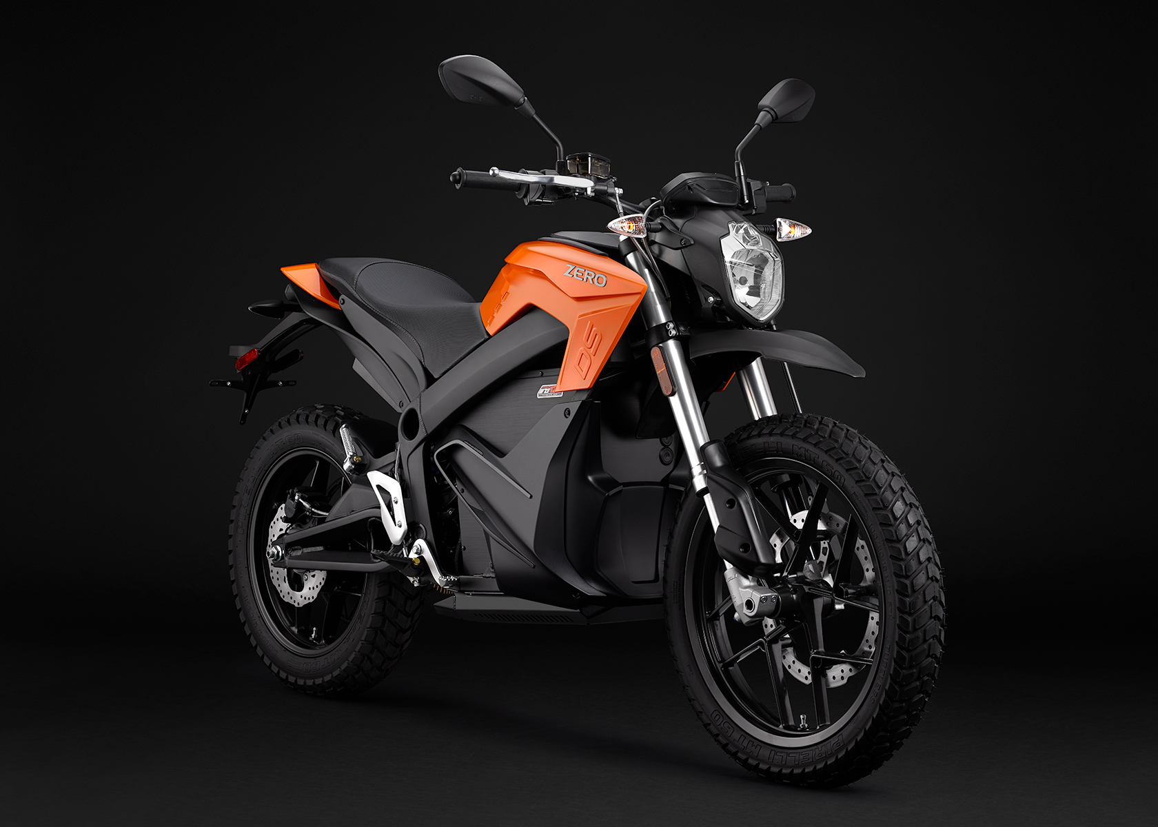 2015 Zero DS Electric Motorcycle: Orange Angle Right