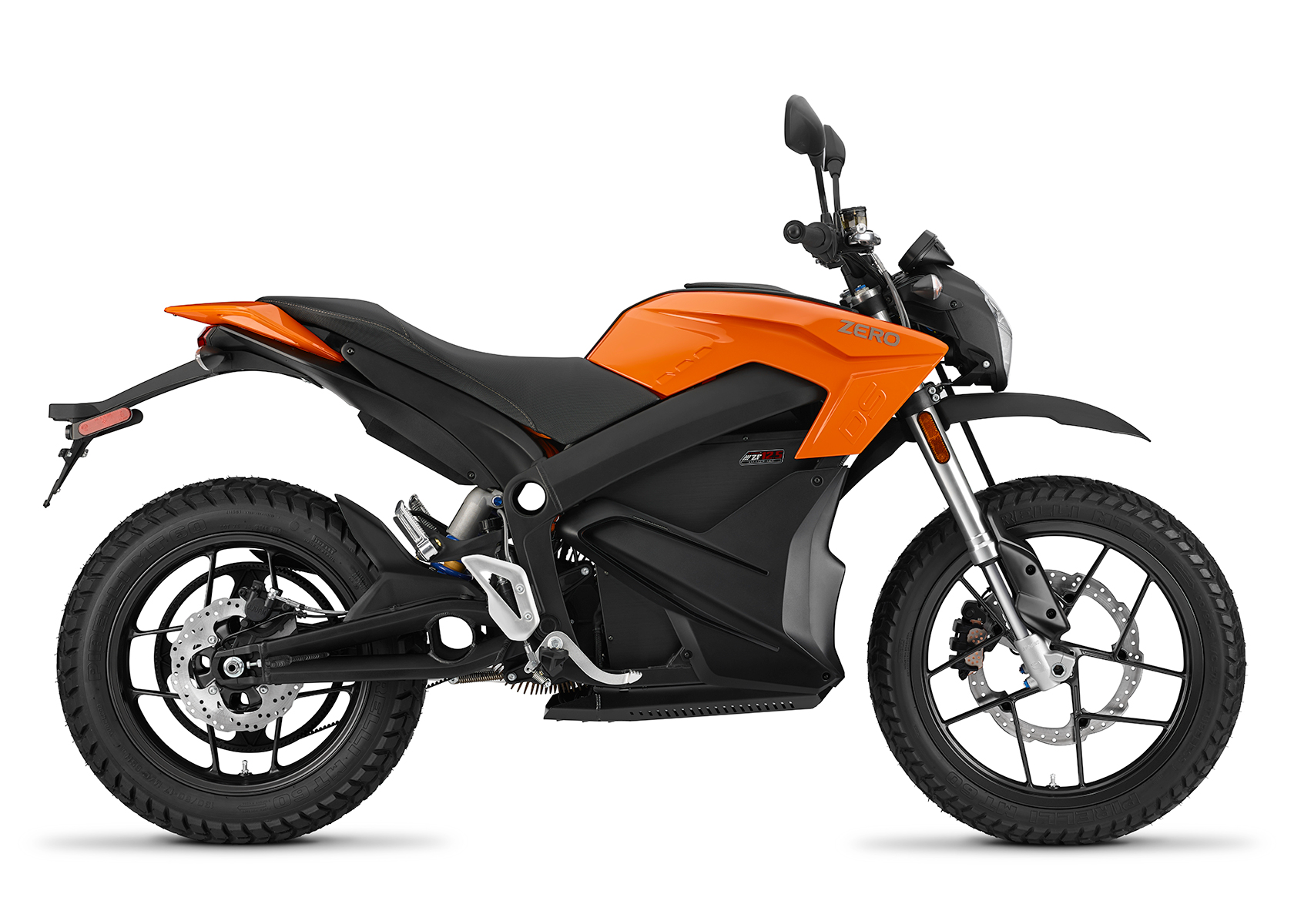 2015 Zero DS Electric Motorcycle: Orange Profile Right, White Background