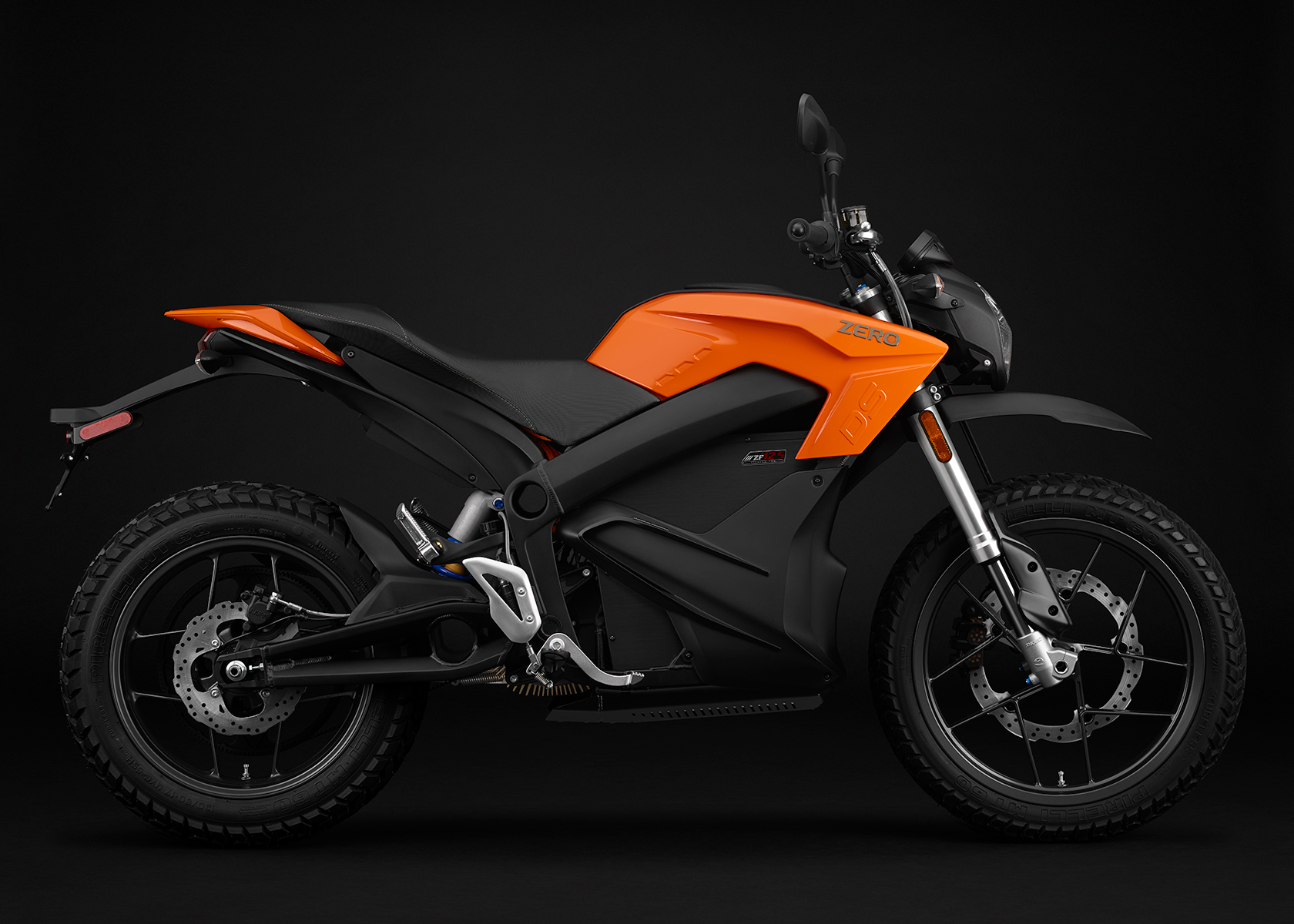 2015 Zero DS Electric Motorcycle: Orange Profile Right