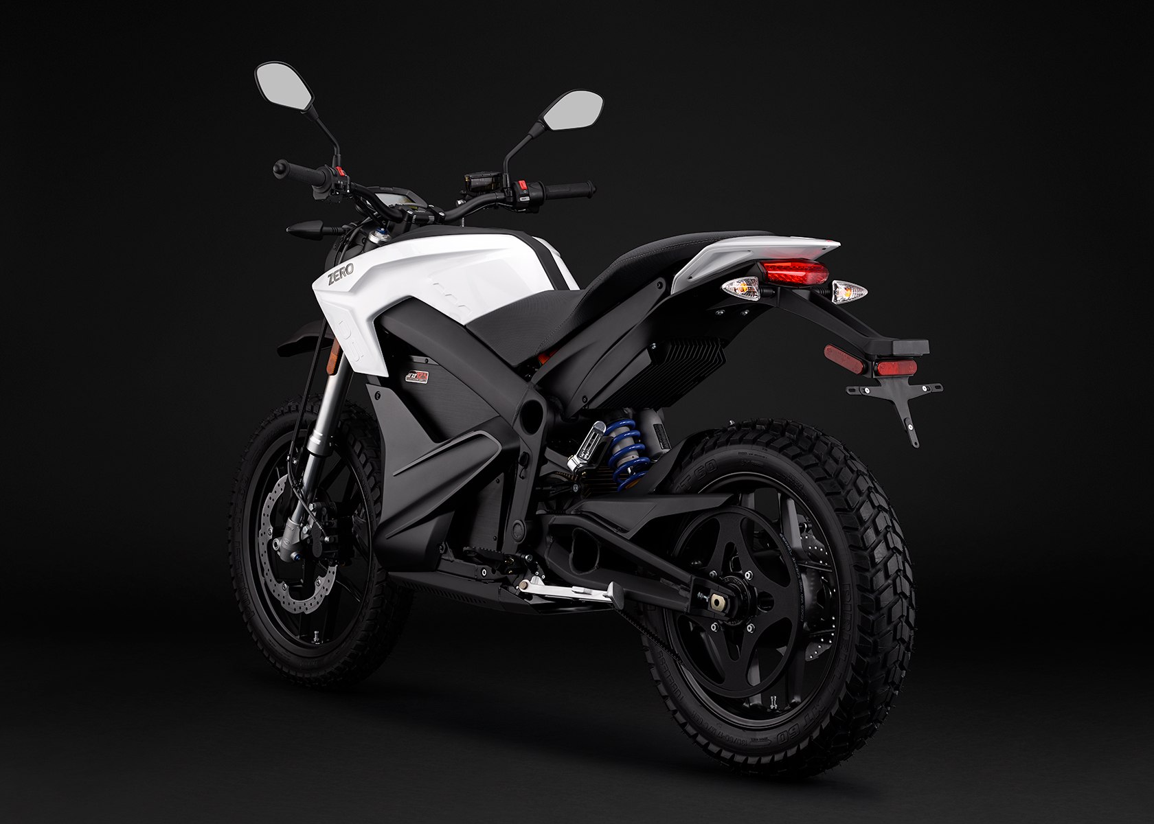 2015 Zero DS Electric Motorcycle: White Angle Left
