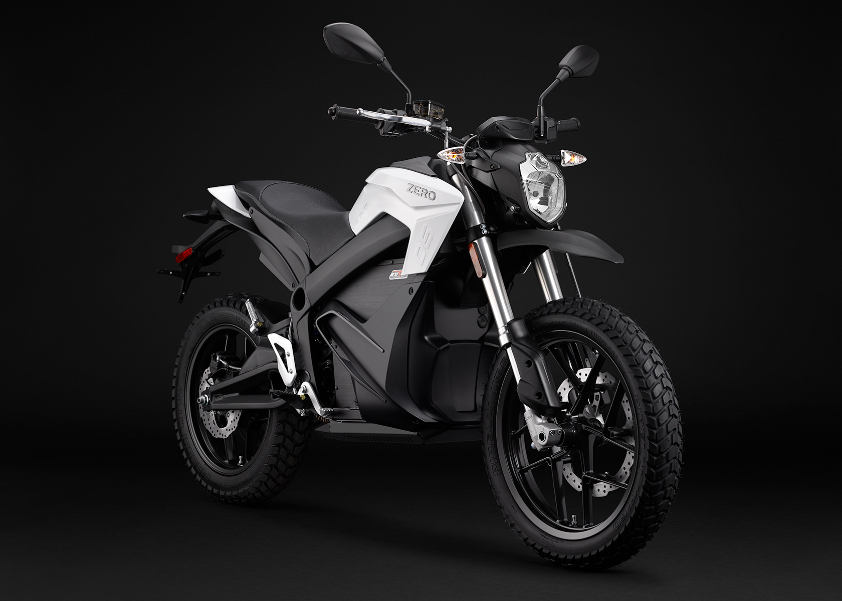 2015 Zero DS Electric Motorcycle: White Angle Right