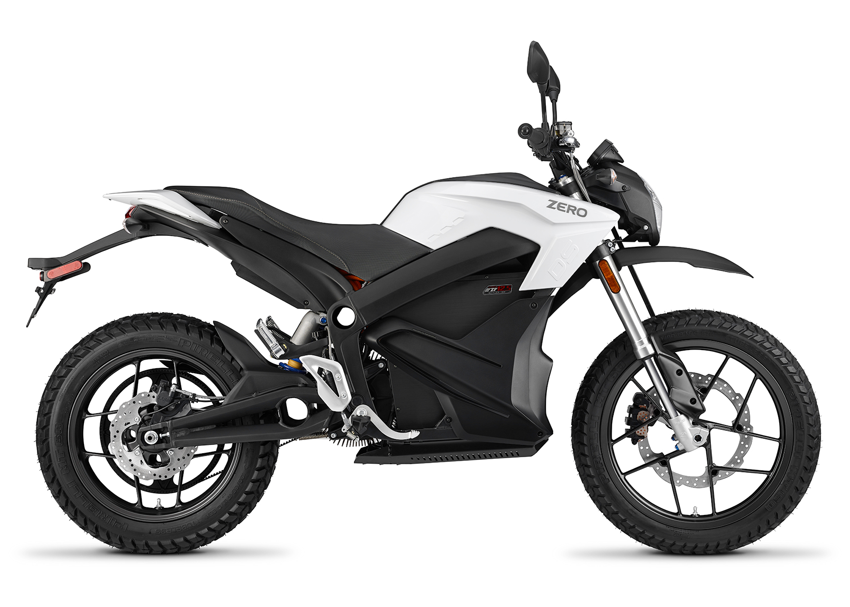 2015 Zero DS Electric Motorcycle: White Profile Right, White Background